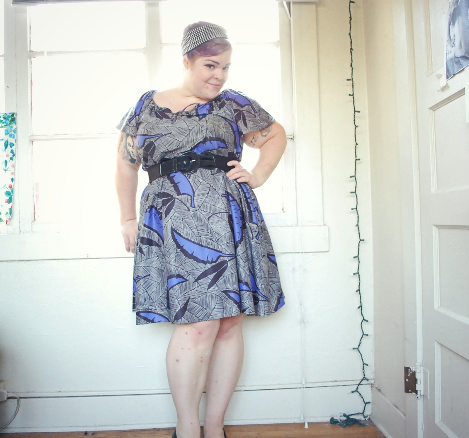 if you are a little thicker think flowy and fitted dresses not tight